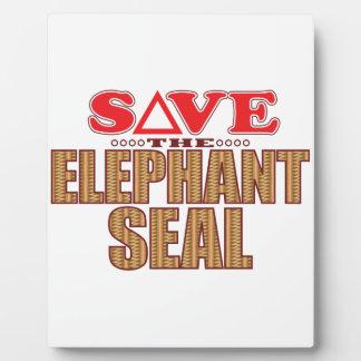 Elephant Seal Save Plaque