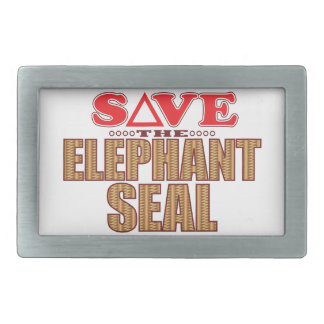Elephant Seal Save Rectangular Belt Buckle