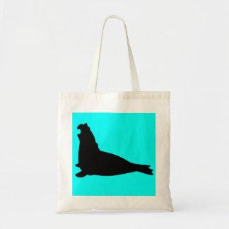 Elephant Seal Tote Bag Black