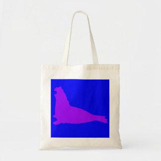 Elephant Seal Tote Bag Purple