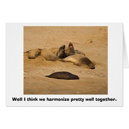 Elephant Seals Bellow in Harmony Greeting Card