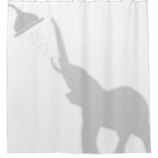 Elephant Shadow Silhouette Shadow Buddies Shower Shower Curtain