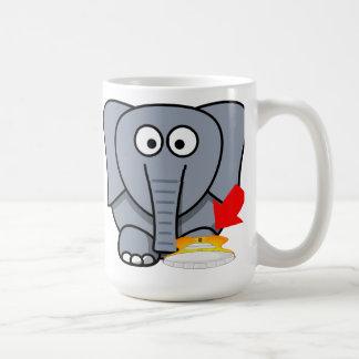 Elephant Shoe I Love You Basic White Mug
