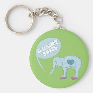 Elephant Shoes Basic Round Button Key Ring