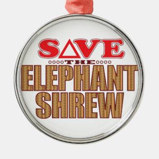Elephant Shrew Save Christmas Ornament