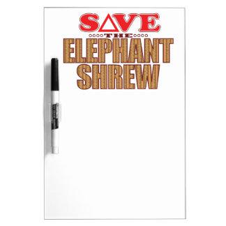 Elephant Shrew Save Dry Erase Board
