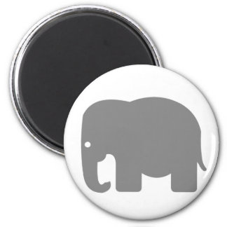 Elephant Silhouette 6 Cm Round Magnet