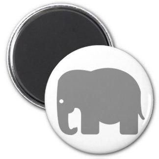Elephant Silhouette 6 Cm Round Magnet