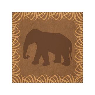 Elephant Silhouette | Facing Left | Safari Theme Gallery Wrapped Canvas