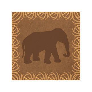 Elephant Silhouette | Facing Right | Safari Theme Canvas Print