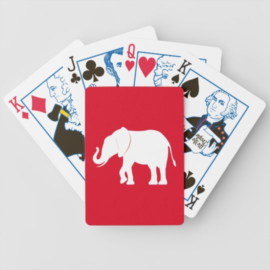 Elephant Silhouette Political Edition Bicycle Playing Cards