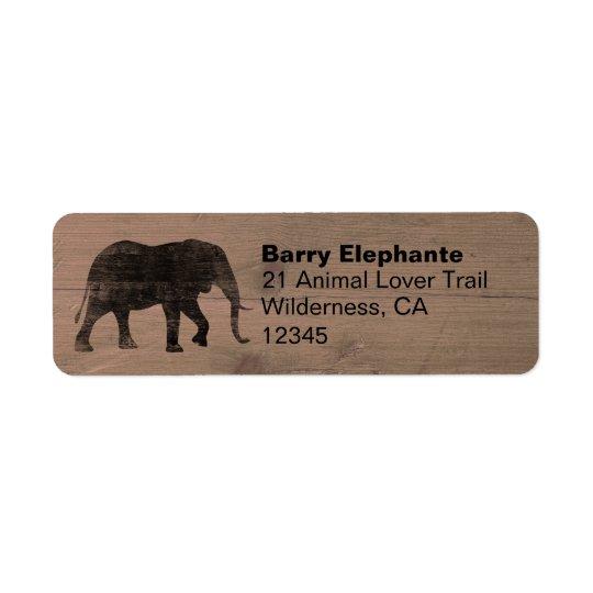 Elephant Silhouette Return Address Labels