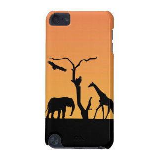 Elephant silhouette sunet ipod touch 4G case iPod Touch 5G Cases