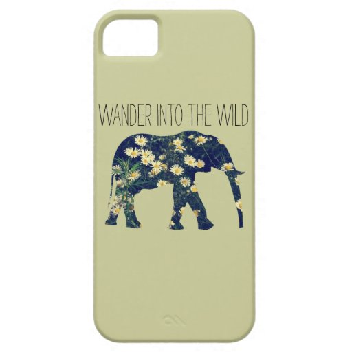 Elephant Silhouette Wanderlust Daisy Hipster Girly iPhone 5 Cases