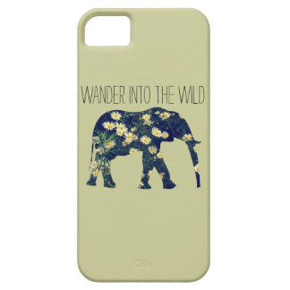 Elephant Silhouette Wanderlust Daisy Hipster Girly Case For The iPhone 5