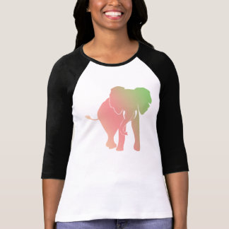 Elephant Silhouette with Gradient colours T-Shirt