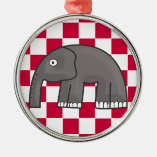 elephant Silver-Colored round decoration