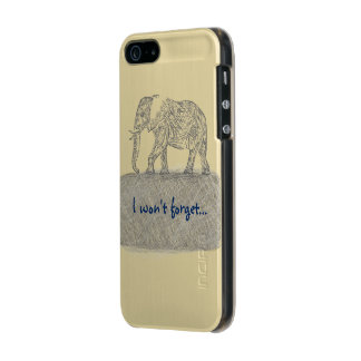 Elephant Sketch iPhone Case Incipio Feather® Shine iPhone 5 Case