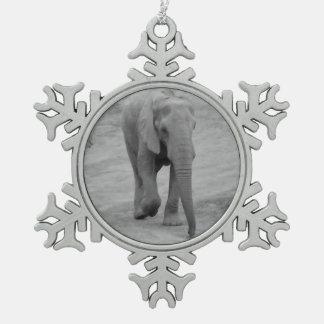 Elephant Snowflake Ornament