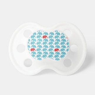 elephant square pattern baby pacifier