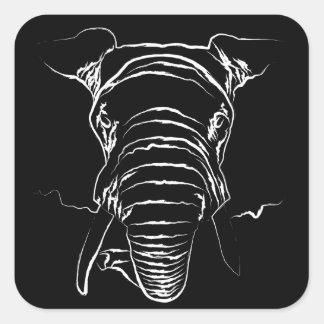 Elephant Square Sticker