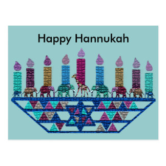 Elephant Star Menorah Postcards