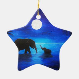 elephant star ornament