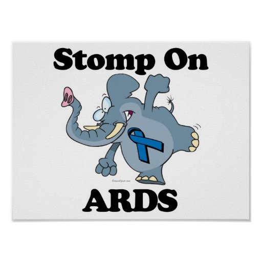Elephant Stomp On ARDS Poster