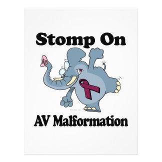Elephant Stomp On AV Malformation Flyer Design