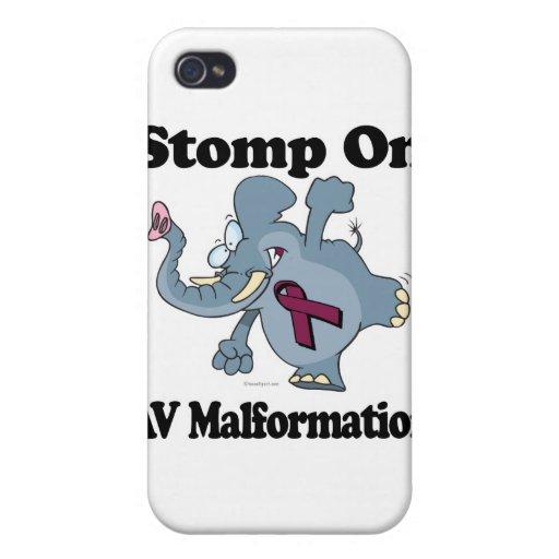 Elephant Stomp On AV Malformation Cover For iPhone 4