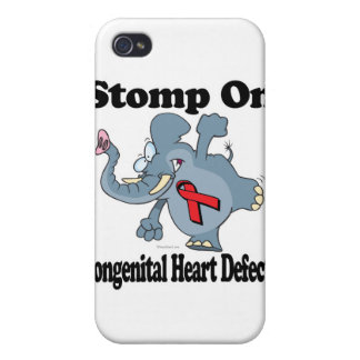 Elephant Stomp On Congenital Heart Defects Case For iPhone 4