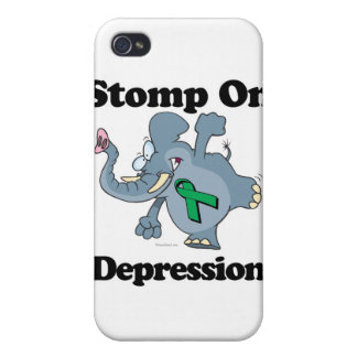 Elephant Stomp On Depression iPhone 4 Covers