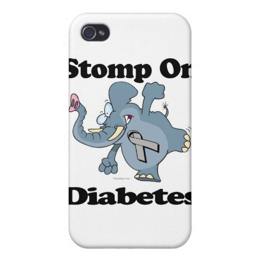 Elephant Stomp On Diabetes Cases For iPhone 4
