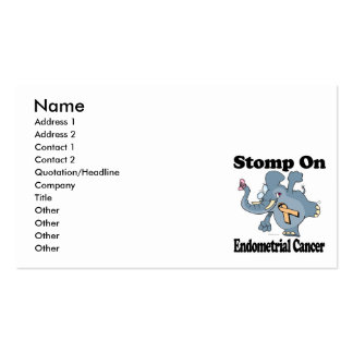 Elephant Stomp On Endometrial Cancer Pack Of Standard Business Cards