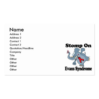 Elephant Stomp On Evans Syndrome Business Card Templates