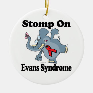 Elephant Stomp On Evans Syndrome Double-Sided Ceramic Round Christmas Ornament