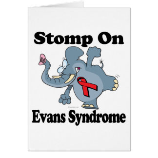 Elephant Stomp On Evans Syndrome Greeting Card