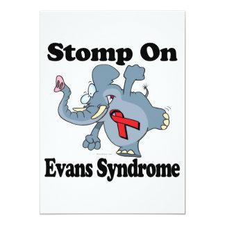 Elephant Stomp On Evans Syndrome Custom Invitations