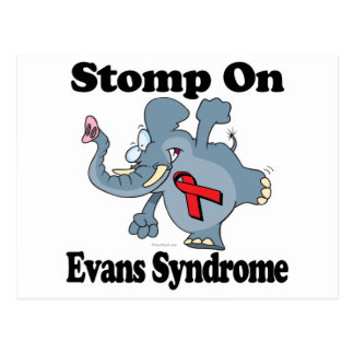 Elephant Stomp On Evans Syndrome Postcard