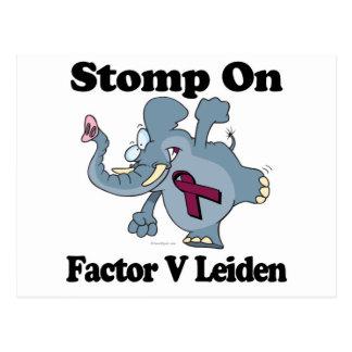 Elephant Stomp On Factor V Leiden Postcard