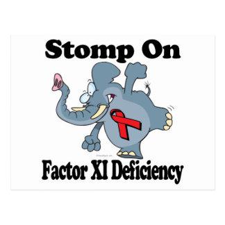 Elephant Stomp On Factor XI Deficiency Postcard