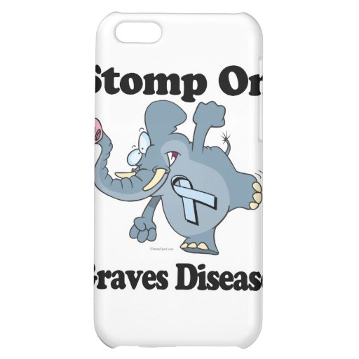 Elephant Stomp On Graves Disease Case For iPhone 5C