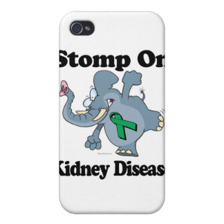 Elephant Stomp On Kidney Disease Case For iPhone 4