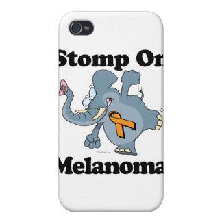 Elephant Stomp On Melanoma (orange) iPhone 4/4S Covers