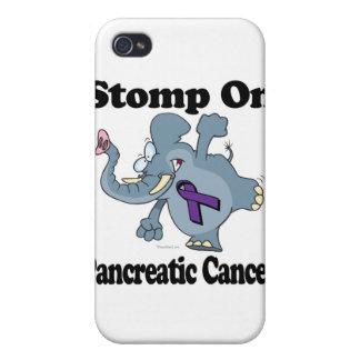 Elephant Stomp On Pancreatic Cancer iPhone 4 Case