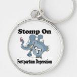 Elephant Stomp On Postpartum Depression Keychain
