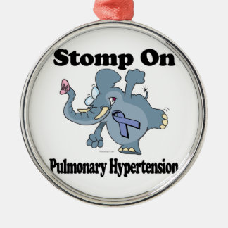 Elephant Stomp On Pulmonary Hypertension Silver-Colored Round Decoration