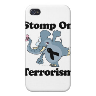 Elephant Stomp On Terrorism Covers For iPhone 4