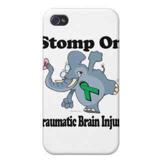 Elephant Stomp On Traumatic Brain Injury Covers For iPhone 4
