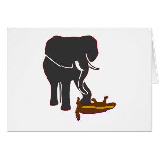 Elephant Stomps Honey Badger Greeting Card